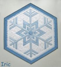 салфетка без лучей снежинка