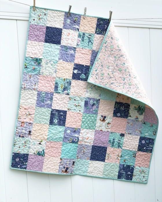 лоскутное одеяло из квадратов