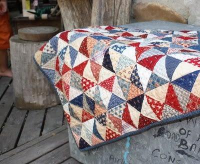 одеяло в винтажном стиле