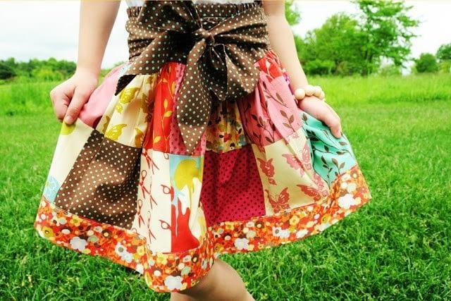 Девчачья юбочка из квадратов